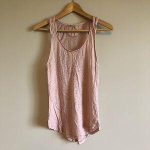 Aritzia Wilfred Free Pink Linen Tank Top